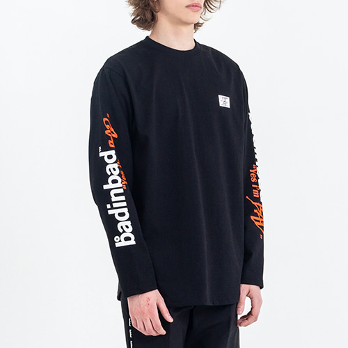 Logo Lettering Long Sleeve_Black