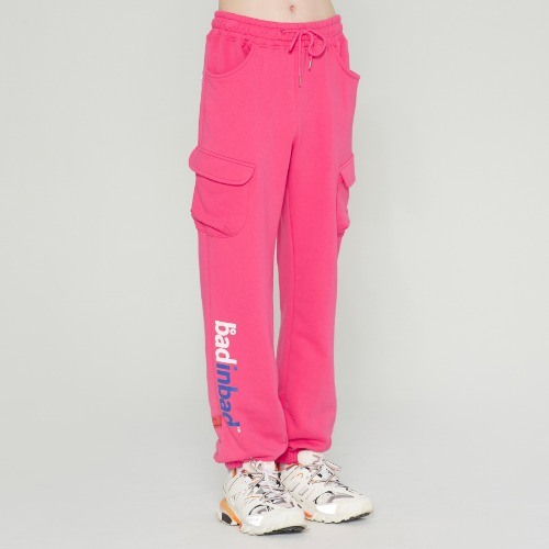 NEON POCKET SWEATPANTS_PINK