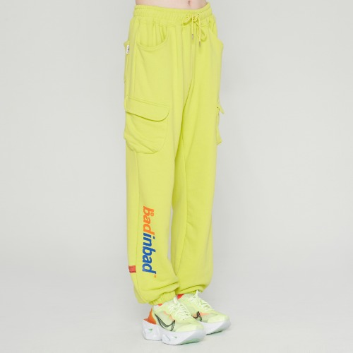 NEON POCKET SWEATPANTS_LIGHT GREEN