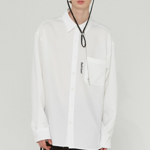 POCKET CHAIN SHIRT_WHITE