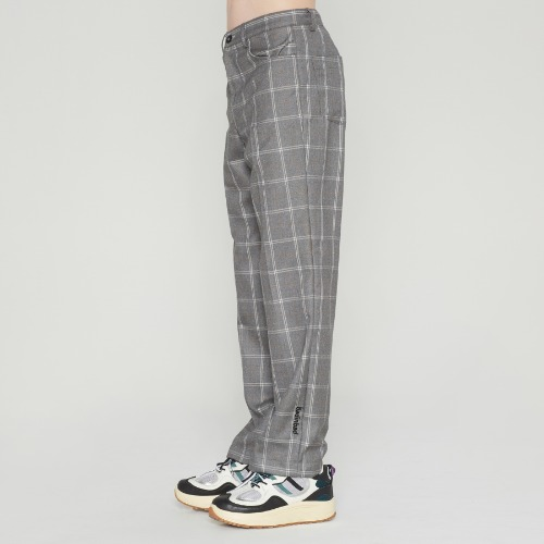 POINT LOGO CHECK SLACKS_GREY
