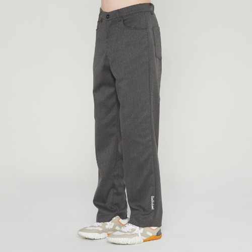 POINT LOGO SINGLE SLACKS_CHARCOAL
