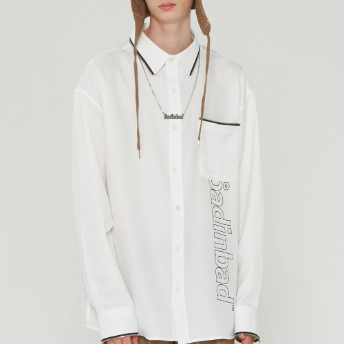 ZIPPER LINING LOGO SHIRT_WHITE
