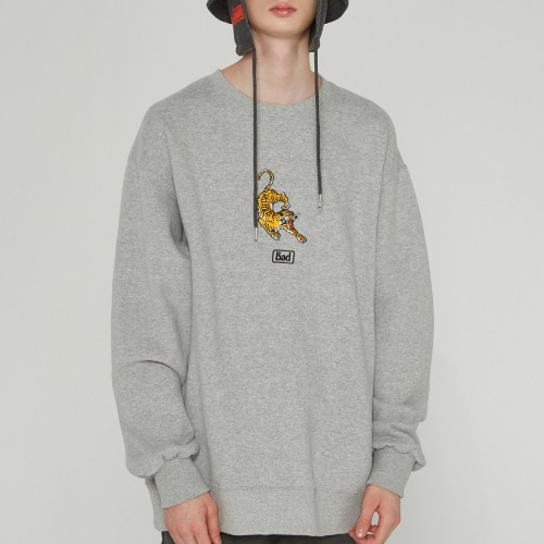 ALTAICA TIGER SWEATSHIRT_GREY