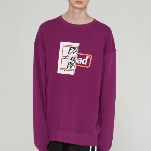 HALF LOGO SWEATSHIRT_PURPLE