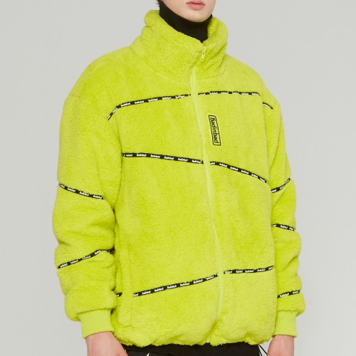 DOUBLENESS FLEECE JUMPER_LIGHT GREEN