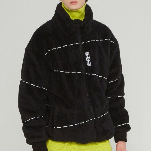 DOUBLENESS FLEECE JUMPER_BLACK