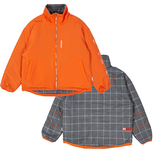 REVERSIBLE CHECK JACKET_ORANGE
