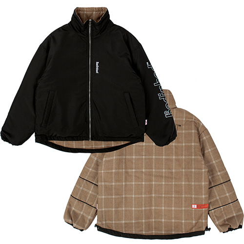 REVERSIBLE CHECK JACKET_BLACK