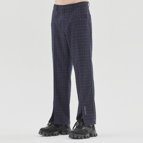 CANABY STREET CHECK PANTS_NAVY