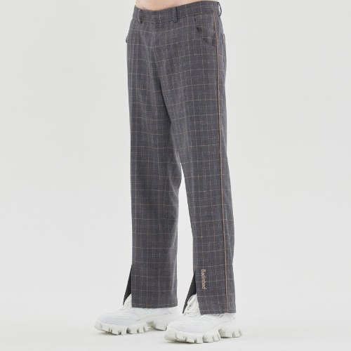 CANABY STREET CHECK PANTS_CHARCOAL
