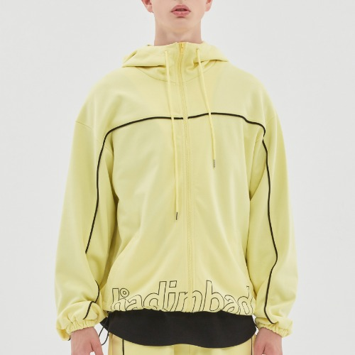 BIB BACK POCKET TRACK JACKET_LIME YELLOW