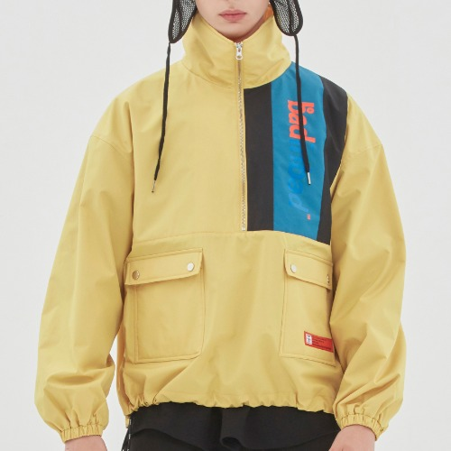 BACK POCKET ANORAK_LIME YELLOW