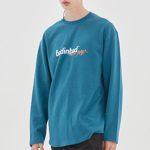 GALLERY BACK PRINTING LONG SLEEVE_BLUE GREEN