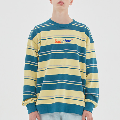 MULTI STRIPED SWEATSHIRT_BLUE GREEN