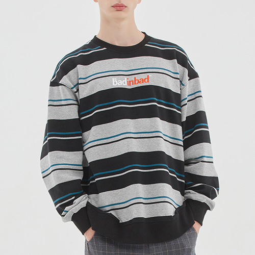 MULTI STRIPED SWEATSHIRT_BLACK