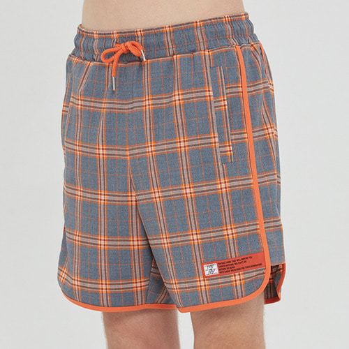 BINDING CHECK SHORT_GREY
