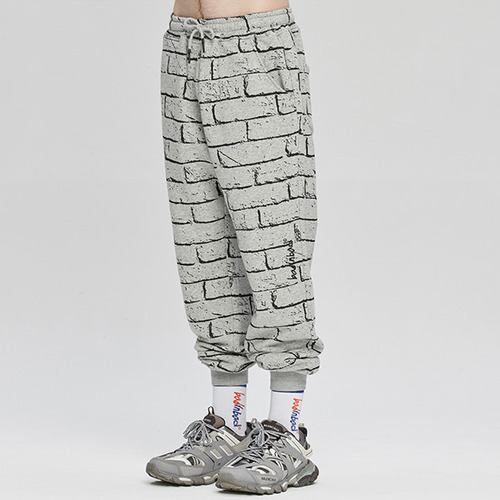 BRICK GRAFFITI SWEATPANTS_GREY