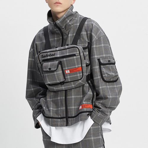 ICONIC CHECK JACKET_GREY