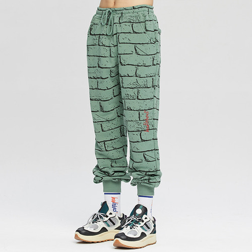 BRICK GRAFFITI SWEATPANTS_SAGE GREEN