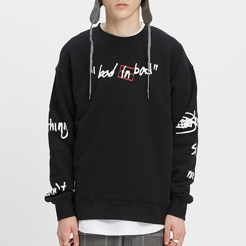 SCRIBBLE LOGO SWEATSHIRT_BLACK