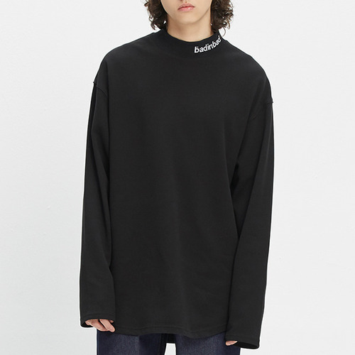 PLAIN HALF TURTLENECK_BLACK