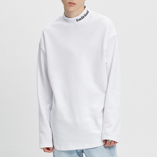 PLAIN HALF TURTLENECK_WHITE