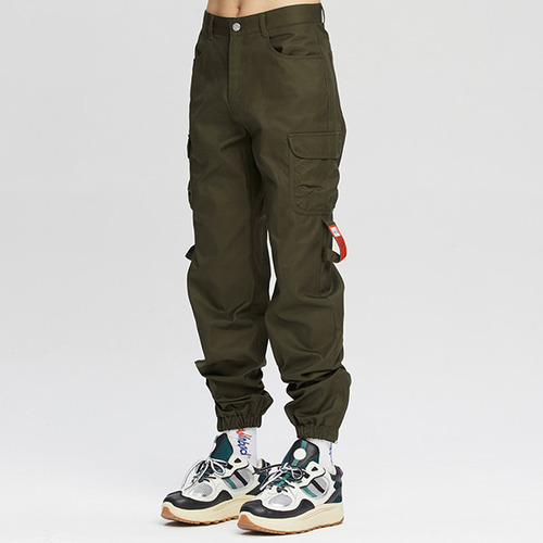 POCKET COTTON JOGGER PANTS_KHAKI
