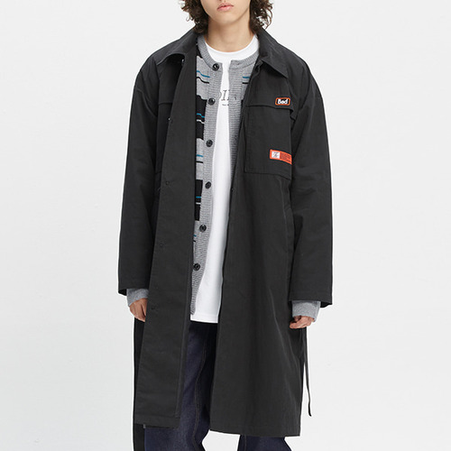 CHEST DOUBLE POCKET COAT_BLACK
