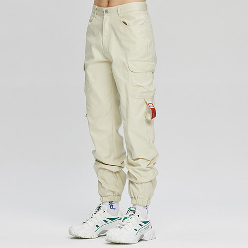 POCKET COTTON JOGGER PANTS_OATMEAL