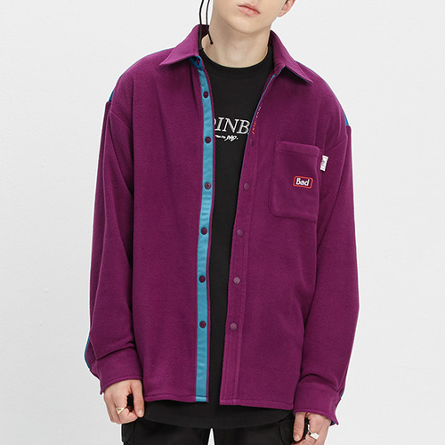 BAD FLEECE SHIRT_PURPLE