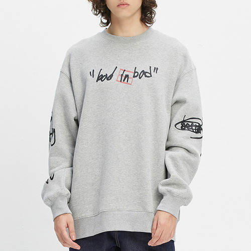 SCRIBBLE LOGO SWEATSHIRT_GREY