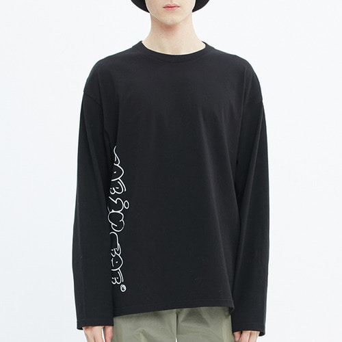 FAT LOGO LONG SLEEVE_BLACK