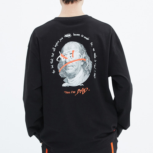 FRANKLIN PORTRAIT LONG SLEEVE_BLACK