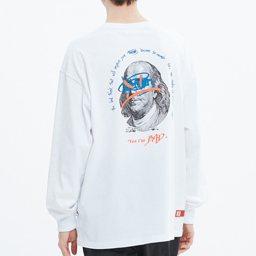 FRANKLIN PORTRAIT LONG SLEEVE_WHITE